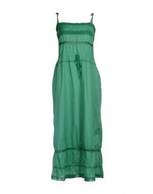 Платье длиной 3/4 GOLD CASE SOGNO. Цвет: зеленый