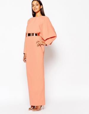 AQ Платье макси Grace. Цвет: мульти