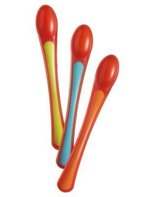 Термоложечки TOMMEE TIPPEE. Цвет: салатовый, голубой, оранжевый