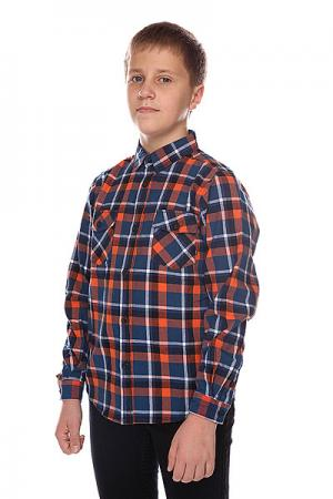 Рубашка в клетку детская  Corsair Junior Shirt Blue/Orange Globe. Цвет: оранжевый,синий