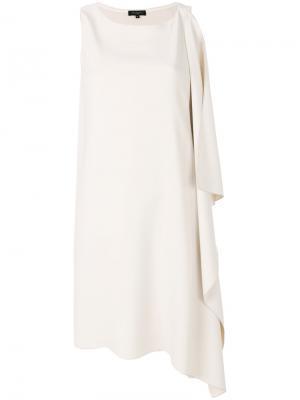 Платье с драпированной деталью Antonelli. Цвет: телесный