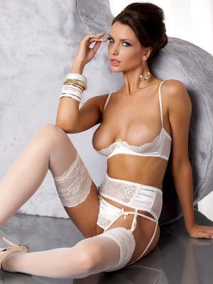 Комплект с открытой грудью Aurelia set cream (Casmir) Casmir. Цвет: кремовый