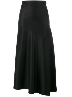 Асимметричная юбка Barbara Casasola. Цвет: чёрный