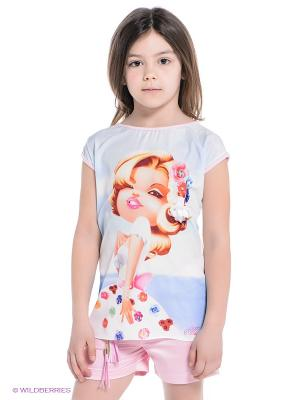Комплект Baby Rose. Цвет: голубой, бледно-розовый