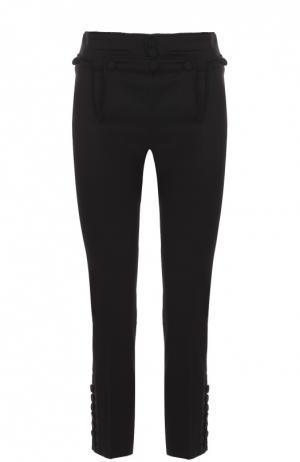 Укороченные облегающие брюки с декоративной отделкой Dsquared2. Цвет: черный