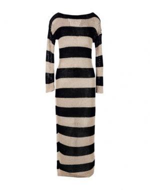 Платье длиной 3/4 KI6? WHO ARE YOU?. Цвет: бежевый