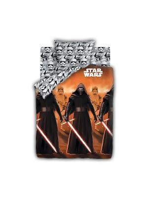 Комплект постельного белья 1,5 бязь Кайло Рен и Штурмовики Neon (светится в темноте) Star Wars. Цвет: серый, оранжевый