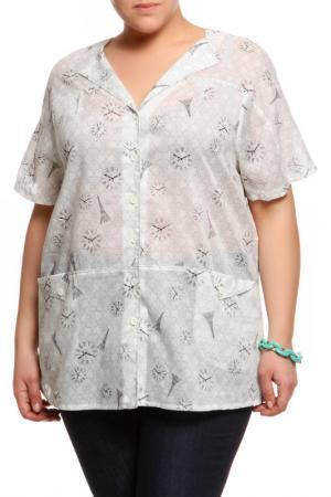 Рубашка Terra. Цвет: серо-белый