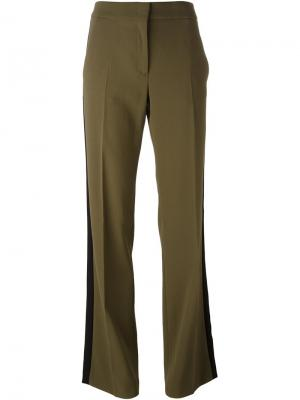 Расклешенные брюки с лампасами Nº21. Цвет: зелёный
