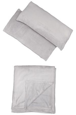 Комплект: покрывало, 2 подушки MIKRONESSE. Цвет: серый