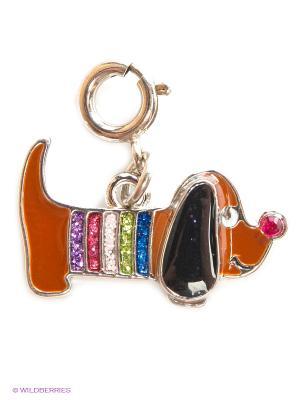 Подвеска на браслет  цветная собачка CHARM IT. Цвет: коричневый