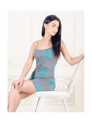 Сорочка  для дома You&Me. Цвет: бирюзовый
