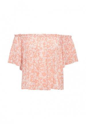 Блуза Sela. Цвет: коралловый