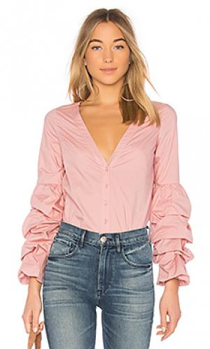 Блузка emma LAcademie L'Academie. Цвет: розовый