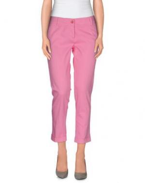 Повседневные брюки TRY ME. Цвет: розовый