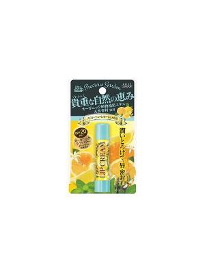 Бальзам для губ Сочный цитрус с органическими экстрактами растений Kose Cosmeport PRECIOUS GARDEN. Цвет: желтый