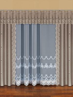 Комплект штор Haft. Цвет: бежевый, золотистый