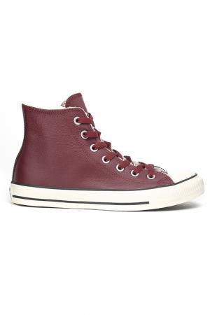 Полуботинки Converse. Цвет: бордовый