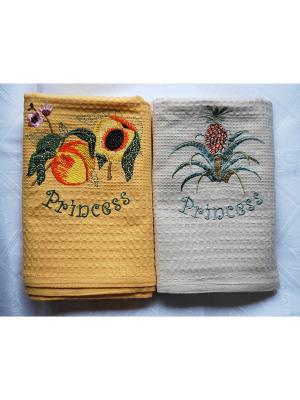 Комплект полотенец, 2 предмета, 50х70 La Pastel. Цвет: оранжевый, бежевый