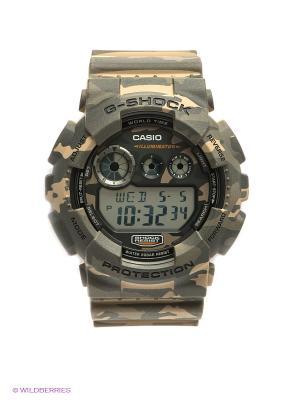 Часы G-SHOCK GD-120CM-5E CASIO. Цвет: антрацитовый, бежевый