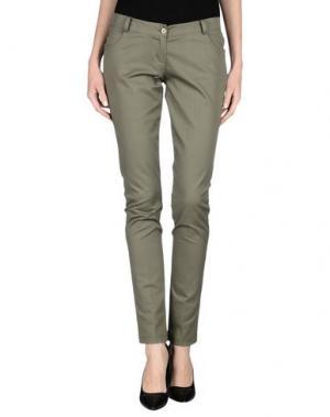 Повседневные брюки RISSKIO. Цвет: зеленый-милитари