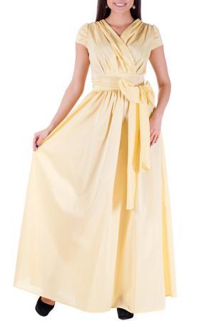 Платье Mannon. Цвет: желтый