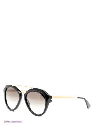 Очки солнцезащитные PRADA. Цвет: черный, коричневый