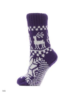 Носки Непростые вещи. Цвет: темно-фиолетовый