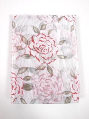 Штора Arbusto di Rose Rossa 200х270 см Ivett Classic. Цвет: розовый, белый