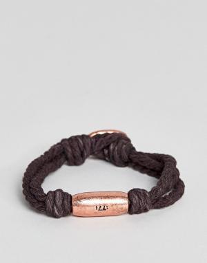 Classics 77 Коричневый браслет со вставкой цвета розового золота Sagre. Цвет: серый