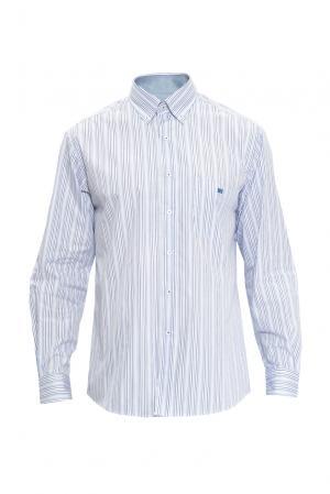 Рубашка из хлопка 121849 Guy Laroche. Цвет: синий