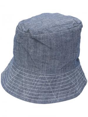 Высокая шляпа с широкими полями Engineered Garments. Цвет: синий