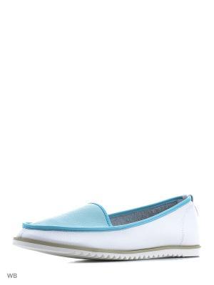 Туфли Wilmar. Цвет: белый, голубой