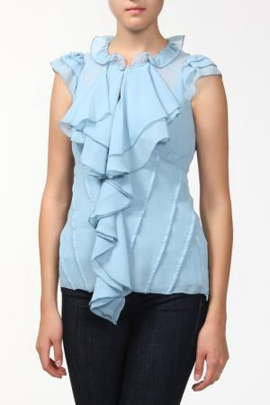 Комплект: блузка и топ Sabra. Цвет: голубой
