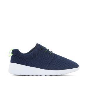 Кроссовки на эластичной шнуровке 26-32 La Redoute Collections. Цвет: черный,ярко-синий