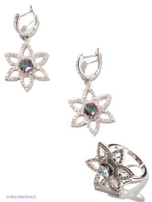 Комплект Lovely Jewelry. Цвет: серебристый