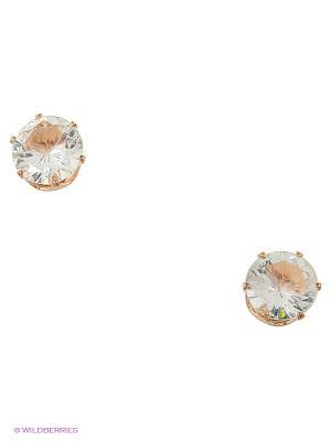 Серьги Lovely Jewelry. Цвет: коричневый