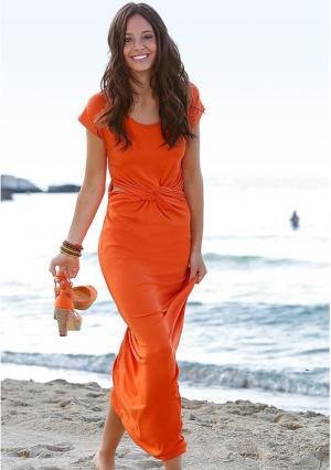 Платье Y.O.U.. Цвет: оранжевый