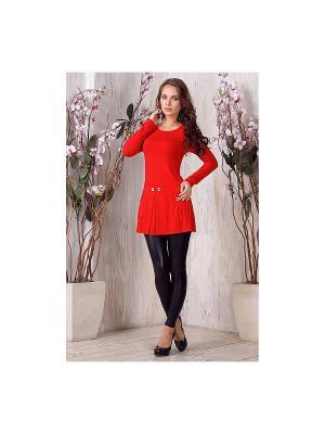 Блузка LIORA. Цвет: красный