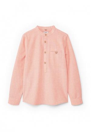 Рубашка Mango Kids. Цвет: розовый