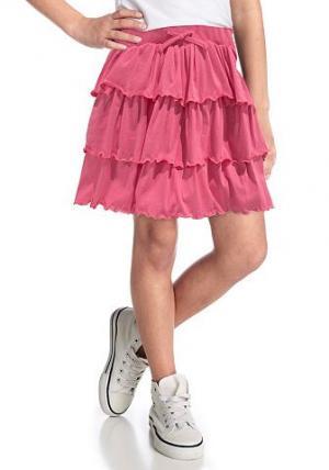 Юбка с воланами CFL. Цвет: розовый