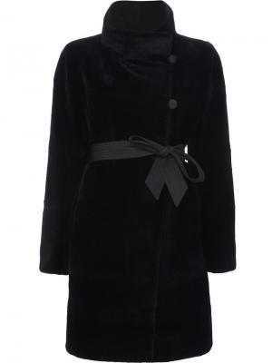 Двухстороннее норковое пальто J. Mendel. Цвет: чёрный