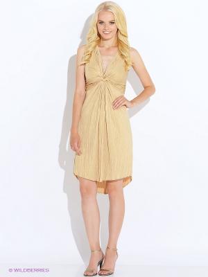 Платье Oky Coky. Цвет: светло-желтый