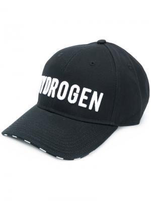 Кепка с вышитым логотипом Hydrogen. Цвет: чёрный