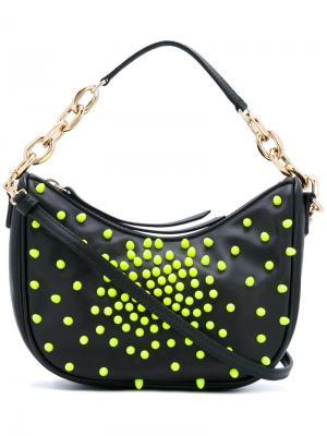 Декорированная сумка на плечо Borbonese. Цвет: чёрный