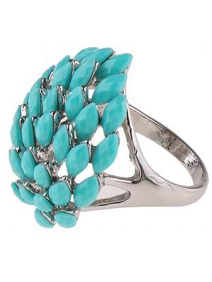 Кольцо Happy Garnets. Цвет: серебристый, голубой