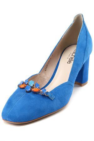 Босоножки Michele. Цвет: голубой