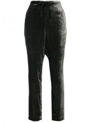 Бархатные брюки со шнурком Bellerose. Цвет: зелёный