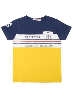 Футболка 7 одежек. Цвет: желтый