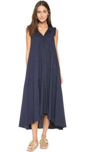 Платье Cinque Otto d'ame. Цвет: синий